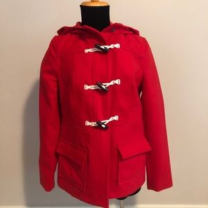 NWOT Classic red toggle coat